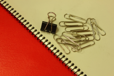 notebook and clip photo