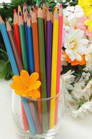 flower bunch: Pastel flowers  Stock Photo
