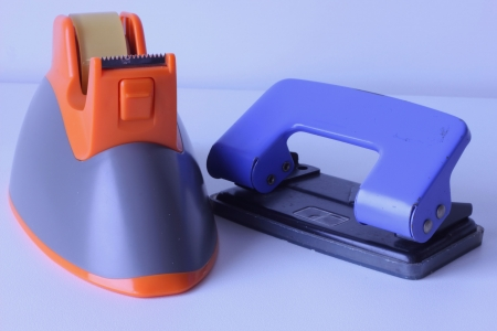 scotch tape: Scotch tape with a paper punch