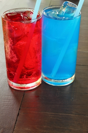 Soft blue and red Stock Photo - 16505025