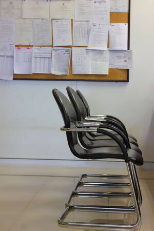 Office chair with bulletin board  photo