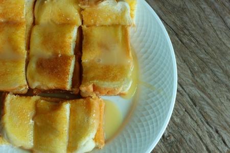 Toast, butter, milk