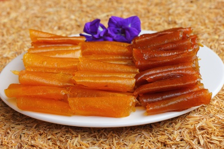candied: dried candied mango Stock Photo