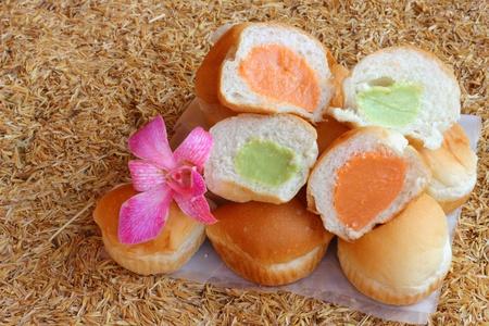 Filling baked bread custard  photo