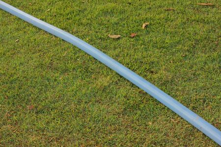water hose: Hang a water hose  Stock Photo