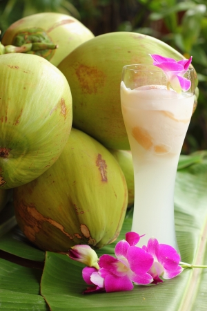coconut fruit: Coconut with coconut water