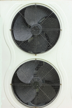 coolant temperature: Air fan  Stock Photo