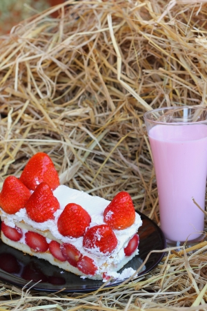 smoothie strawberry: Strawberry Cake - Milk Smoothie Strawberry berry