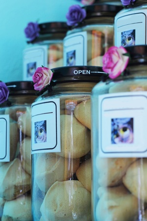 Cookies in a jar - put together. photo