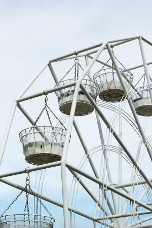 Ferris wheel against a blue sky photo