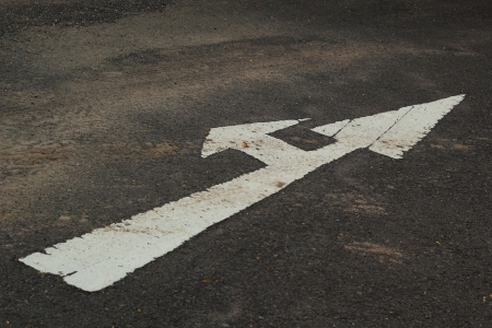 Symbolize the arrows on the street  photo