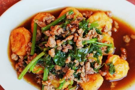 bean curd: Tofu fried tofu.
