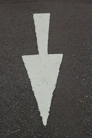 Symbolize the arrows on the street. photo