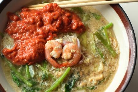 vermicelli: Mariscos fideos sopa - Sukiyaki Foto de archivo