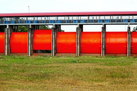 waterleiding: Een waterwerken station voor elektriciteit in Thailand.