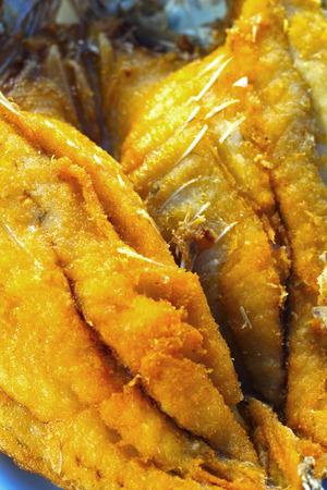 mango fish: Fried fish - with mango salad.