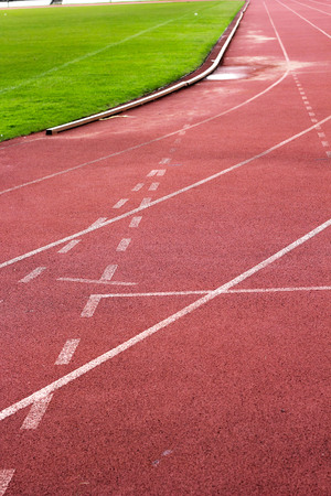 Running track for in the stadium. photo