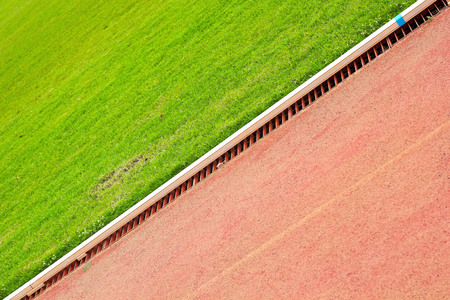 Running track for in the stadium  photo