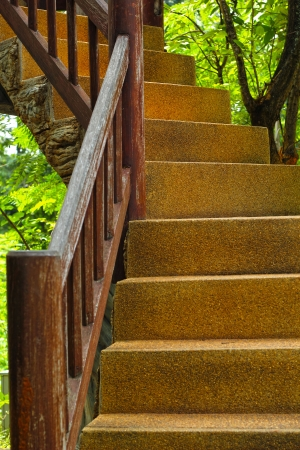 wood stairs  for the  up and down  photo