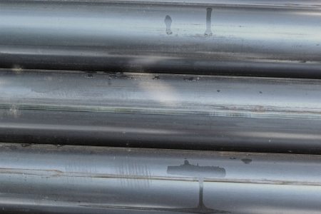 Old metal pipes - for construction. photo