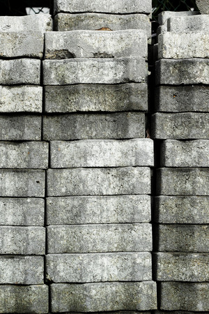 Gray brick for construction background texture photo