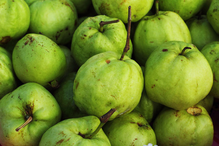 soft sell: fruit guava fresh-in the market. Stock Photo