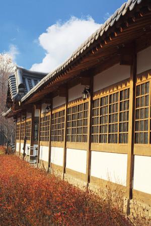 folk village: The old-style houses of a folk village in South Korea