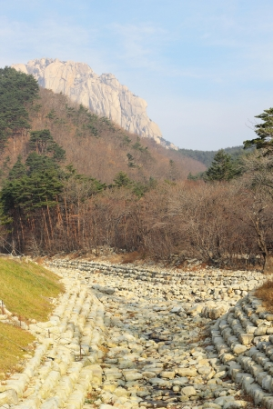 beautiful landscape at Seoraksan Korea. photo
