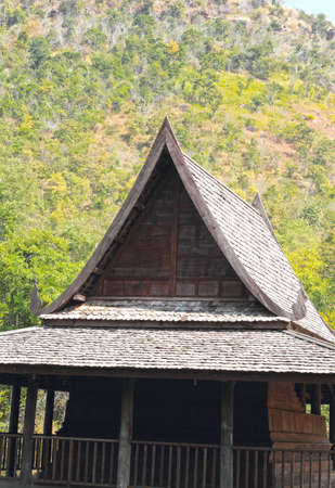 Thai Wooden House in the mountain photo
