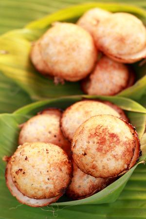 sweetmeat: Coconut milk mix sugar and flour. - Kind of Thai sweetmeat