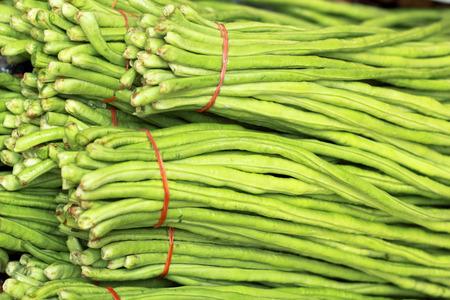 long bean: long bean in the market