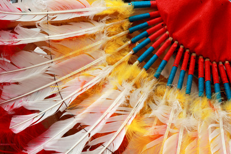 native american indian chief headdress Stock Photo