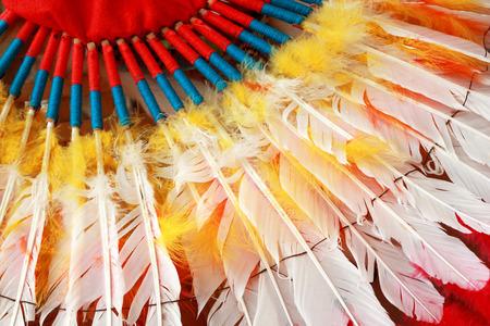 ネイティブ アメリカン インディアン チーフ ヘッドドレス 写真素材