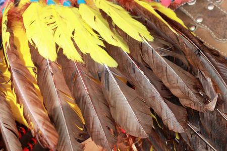 chieftain: native american indian chief headdress Stock Photo