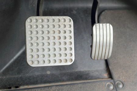 Brake and accelerator pedal for cars. photo