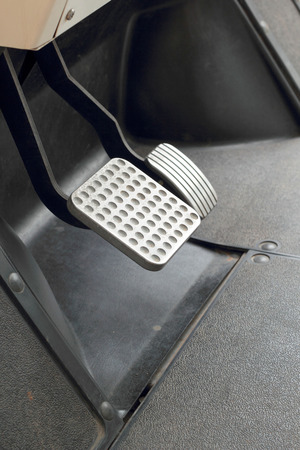 Brake and accelerator pedal for cars. Stock Photo - 28997635