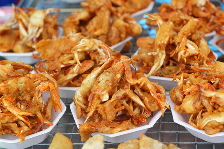 Fried crab asia food photo