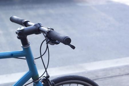 close up old bicycle handlebar photo