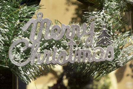 Christmas decorative labels signs of christmas photo