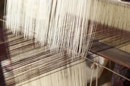 making handmade weaving thread