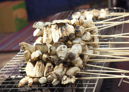 fungoid: grilled eringe mushrooms