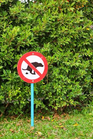 Signs symbolize ban feces dog photo