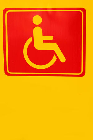 paralyze: Signs symbolize parking for disabled persons
