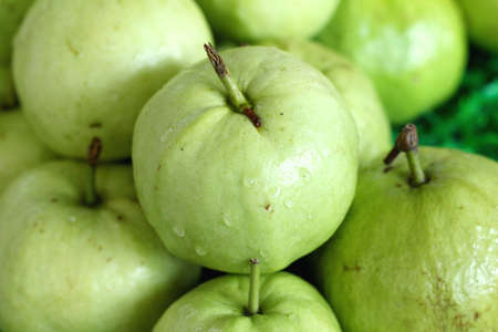 guava fruit: Guava fruit in the market Stock Photo