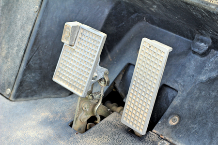 pedal: Brake and accelerator pedal for cars.