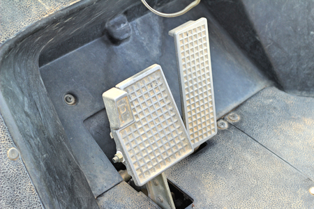 accelerator: Brake and accelerator pedal for cars.