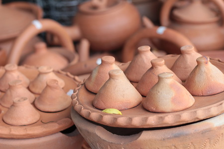 Earthenware brown for sale in Asia photo