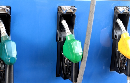fueling pump: Fuel pump at a station