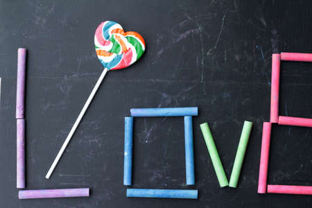 rams: Rams chalk colorful love and candy heart