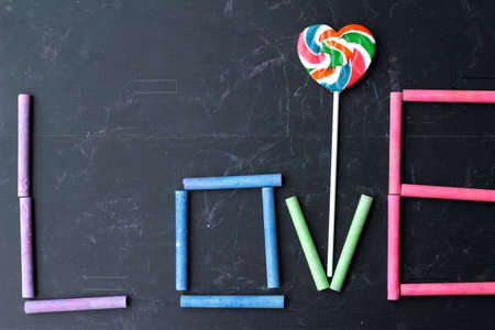 rams: Rams chalk colorful Stock Photo